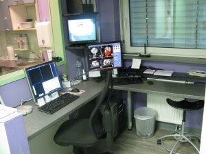 CT-Schaltraum im Radiologischen Zentrum in Höchstadt