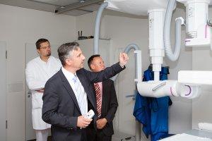 Erklärung und zeigen der Geräte in der Schön Klinik Nürnberg Fürth