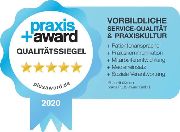 praxis PLUS award Qualitätssigel 2020